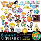Alphabet - Beginners 2. BLACK AND WHITE & Color Bundle. {L
