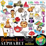 Alphabet - Beginners 3. BLACK AND WHITE & Color Bundle. {L