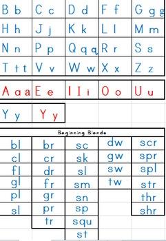 Alphabet & Beginning Blends