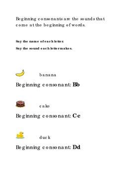 Alphabet Beginning Consonants Letters B C D Kindergarten