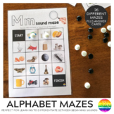 Alphabet Beginning Letter Sound Mazes with Real Photos