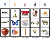 Alphabet Beginning Letter Sound Sorting Boards for Autism