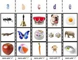 Alphabet Beginning Letter Sound Sorting Boards for Autism