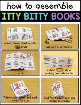 Alphabet Beginning Sound Books {Itty Bitty Books}