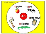 Alphabet Beginning Sound Circle Map Posters