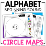 Alphabet Beginning Sound Circle Maps