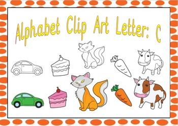 Alphabet Clipart Letter C Phonics Clip Art Commercial Use Fine
