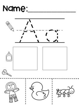 Alphabet Beginning Sound Cut and Paste