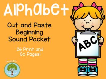 Alphabet Beginning Sound Cut and Paste Packet