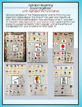 Alphabet Sounds with Graphic Organizers, Anchor Charts, Printables and MORE!