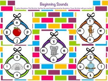 Alphabet Beginning Sound Matching Sheets