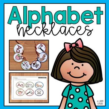 Alphabet Beginning Sound Necklace Activity
