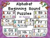 Alphabet Beginning Sound Puzzles- Preschool or Kindergarten