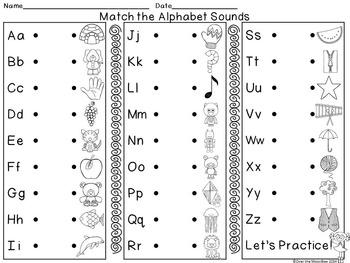 Alphabet Beginning Sounds 4-Part Puzzles Center