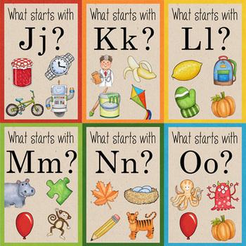 Alphabet / Beginning Sounds ABC flashcards (designed for Photo Printing)