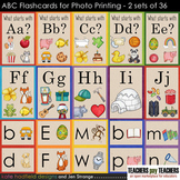 Alphabet / Beginning Sounds ABC flashcards (designed for Photo Printing)