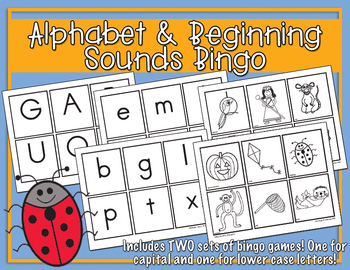 Alphabet & Beginning Sounds Bingo
