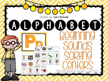 Alphabet Beginning Sounds Sorting Centers