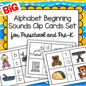 Alphabet Beginning Sounds Clip Cards