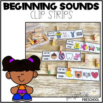 Alphabet Beginning Sounds Clip Strips