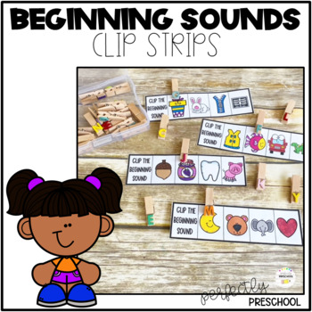 Alphabet Beginning Sounds Clip Strips
