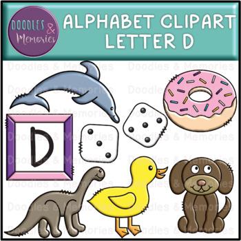 Alphabet Beginning Sounds Clipart Letter D