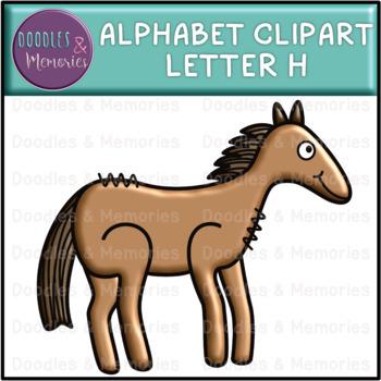 Alphabet Beginning Sounds Clipart Letter H