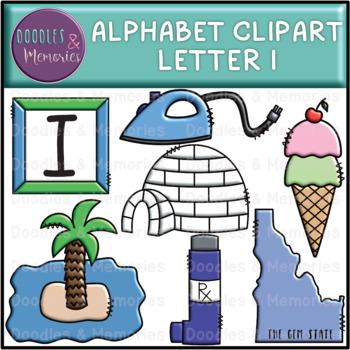 Alphabet Beginning Sounds Clipart Letter I