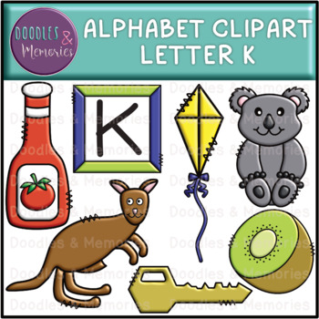 Alphabet Beginning Sounds Clipart Letter K