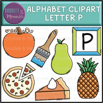 Alphabet Beginning Sounds Clipart Letter P