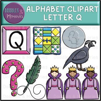 Alphabet Beginning Sounds Clipart Letter Q