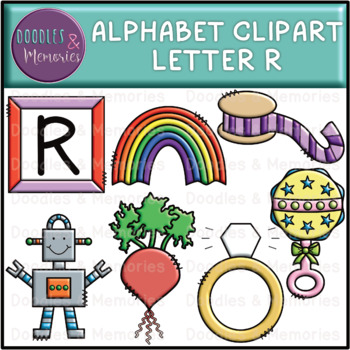 Alphabet Beginning Sounds Clipart Letter R