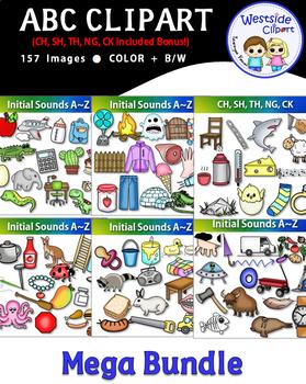 Alphabet Beginning Sounds Clipart Mega Bundle (157 images){Westside Clipart}