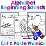 Alphabet Beginning Sounds Cut and Paste Phonics