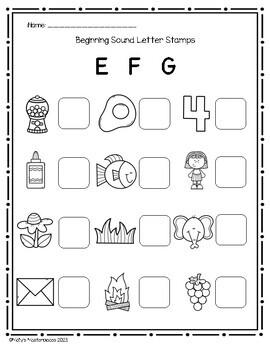Alphabet Beginning Sounds Letter Stamps Pack