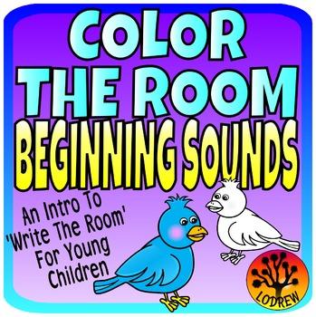 Beginning Sounds Color The Room Literacy Centers Preschool SPED ECE Kindergarten