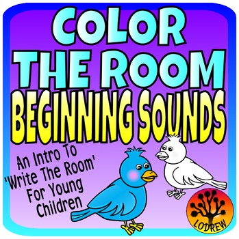 Beginning Sounds Color The Room Literacy Centers Preschool