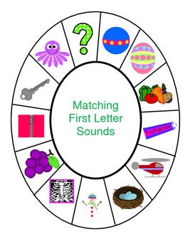 Alphabet Beginning Sounds Match Up