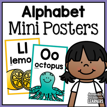 Alphabet Beginning Sounds Mini Posters or Flashcards