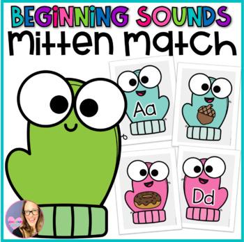 Alphabet Beginning Sounds Mitten Match