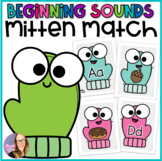 Alphabet Beginning Sounds Mitten Match