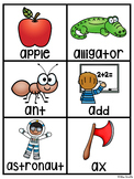 Alphabet Cards Beginning Sounds Pocket Chart Centers and M