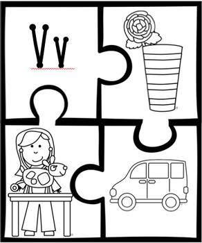 Alphabet Beginning Sounds Puzzles