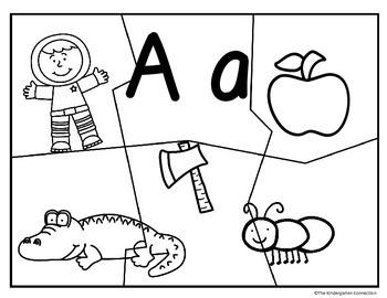 Alphabet Beginning Sound Puzzles