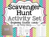 Alphabet Beginning Sounds Scavenger Hunt Activities