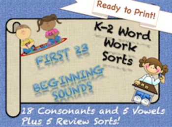 Alphabet Beginning Sounds Sorts! READY TO PRINT (Orton-Gil