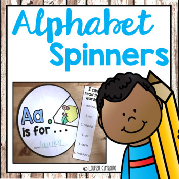 Alphabet Beginning Sounds Spinner Activity