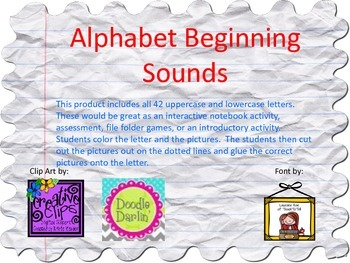 Alphabet Beginning Sounds-Uppercase & Lowercase