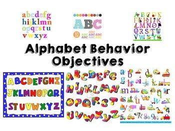 Alphabet Behavior Objectives Package