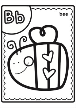 Alphabet Big and Bold Coloring Pages